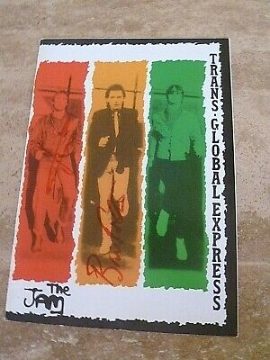 The Jam  Original 'trans'global' Tour Book, Signed By Rick And Bruce • 50£