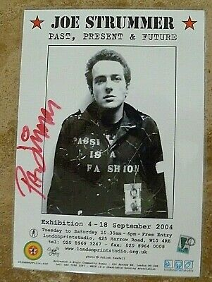 The Clash  Rare Signed By Paul, Original Joe Exhibition Flyer, Laminated. • 45£
