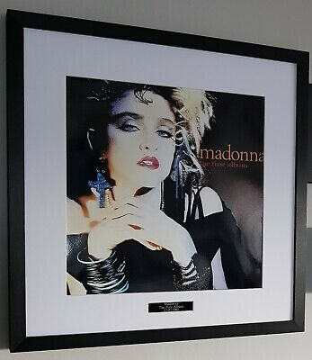 Madonna/Framed The First Album Vinyl Cover/PRINT/Holiday • 36.99£