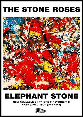 Reproduction The Stone Roses Poster,  Elephant Stone  Indie, Size: A2 • 12£