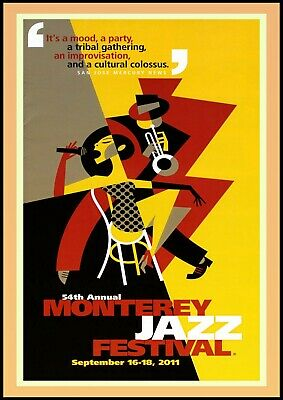 Reproduction  Monterey Jazz Festival - 2011  Poster, Vintage Print, Size: A2 • 12£
