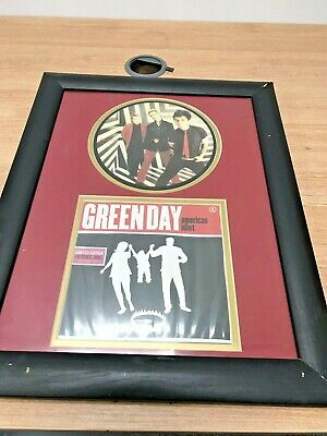 """Greenday Limited Edition Picture Disc In Frame 16""""x12"""" Man Cave • 49.99£"""
