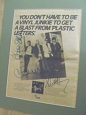 Blondie Very Rare Original Signed 'plastic Letters' Full Page Trade Advert. • 100£
