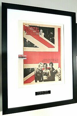 The Sex Pistols/Framed Original NME/Certificate/Johnny Rotten/never Mind The • 38.99£