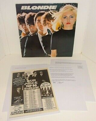 BLONDIE [S/T] LP FULLY SIGNED By Debbie Harry + Band In 1978 W/sworn Provenance • 400£