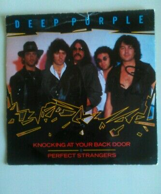 DEEP PURPLE Single Rare Knocking At Your Backdoor.SIGNED By Ian Gillan. LAST GO. • 24£