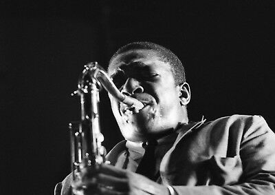Reproduction  John Coltrane - Saxaphone  Poster, Jazz, Wall Art, Vintage Print • 12£
