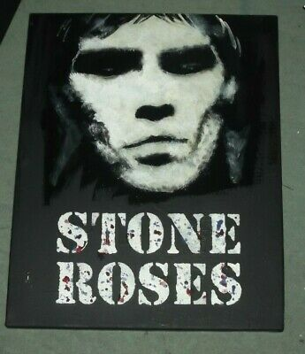 STONE ROSES, IAN BROWN, HAND PAINTED CANVAS   20 X 16 INS  B • 24.99£