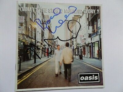 Oasis Autographed Cd Booklet, Signed By Noel, Bonehead And Gem. • 119£