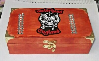 MOTORHEAD. ..wood Storage Box. Plectrums, Strings .JEWELLERY.etc, Guitar,gift  • 9.99£