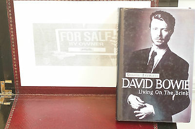 Rare David Bowie Living On The Brink Geo Tremlett Hard Cover Sleeve 1st Edition  • 42.26£