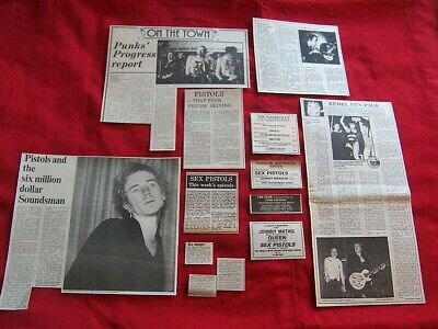 Sex Pistols Original 1976 Vintage Clippings Cuttings Adverts Rare Collection  • 120£