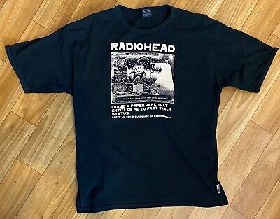 Radiohead W.A.S.T.E. 'Ice Caps' Black Short Sleeve T-Shirt, Size XL, New &Unworn • 85£