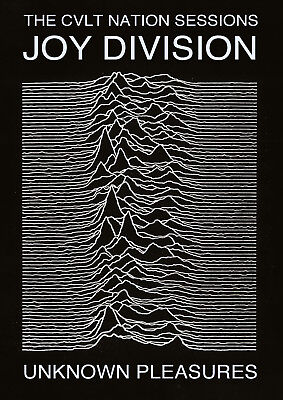 Reproduction  Joy Division  Poster, Unknown Pleasures, Ian Curtis, Manchester • 12£