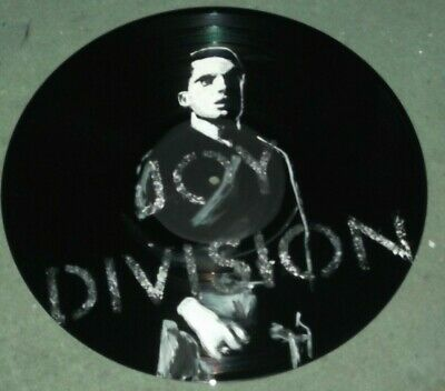 JOY DIVISION,, IAN CURTIS..HAND PAINTED 12INS VINYL DISC, .b • 7.99£