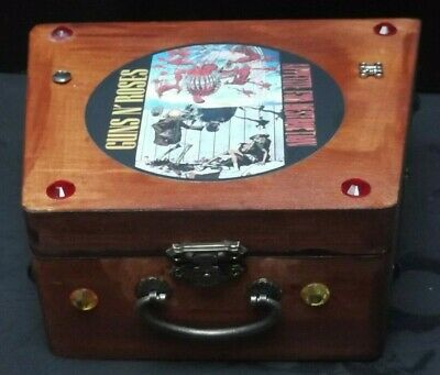 GUNS N ROSES  .wood Storage Box. Plectrums, Strings Etc, Guitar,jewellery..gift  • 18.99£
