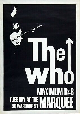 Reproduction  The Who - Marquee  Poster, Home Wall Art, Size A2 • 13.50£