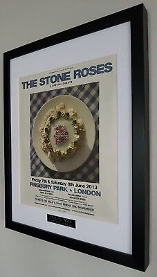 The Stone Roses-Framed PRINT-Finsbury Park-NEW- Ian Brown  • 31.99£