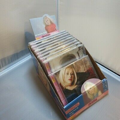 RARE LOT OF 10 CHRISTINA AGUILERA CD CDs KOKOs BUBBLE GUM W/ DISPLAY BOX STANDEE • 436.72£