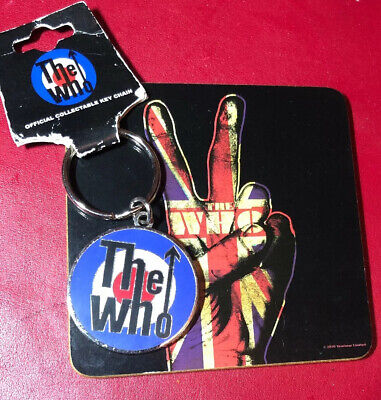 The Who Metal Target Key Ring Chain Official Licensed Brand New And Free Coaster • 3£