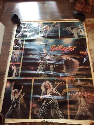 Giant Vintage Ted Nugent Poster; Height 4'9  X 3'6  Wide (145cm X 107cm) • 19£
