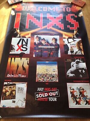INXS Welcome To INXS / Get Out Of The House Tour (promo Fly Poster 60 X 40) • 19.99£