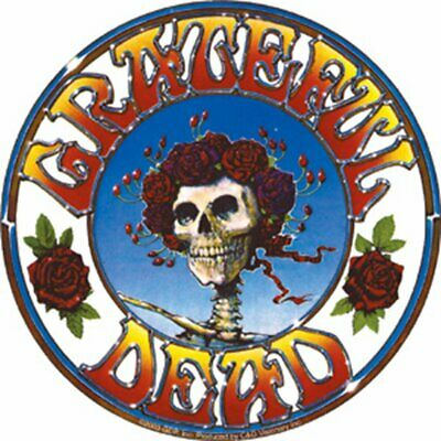 Large NEW Vinyl Decal STICKER The GRATEFUL DEAD Skeleton And Roses GENUINE • 2.79£