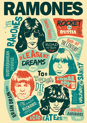 Reproduction Ramones Poster, Home Wall Art, Vintage Print • 12£