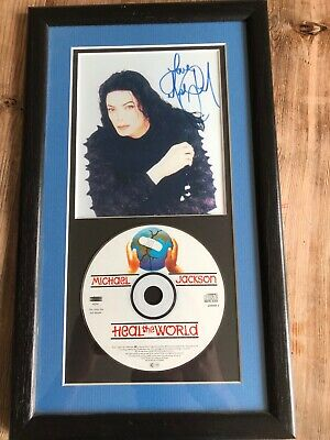 Michael Jackson Heal The World Rare Signed Presentation Disc • 30£
