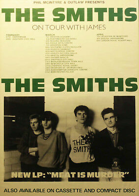Reproduction, The Smiths -  On Tour  Poster, Morrissey, Manchester • 12£