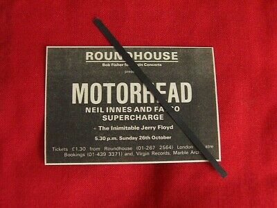 Motorhead Original 1975 Vintage Gig Concert Advert Roundhouse London • 6.99£