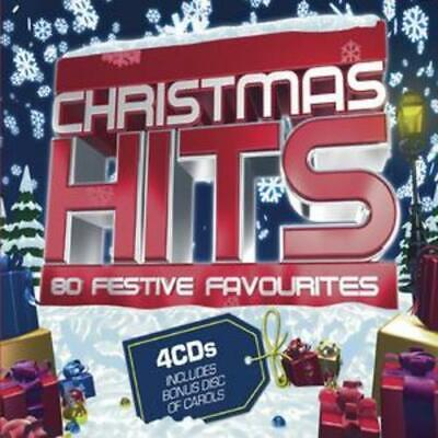 Various Artists : Christmas Hits: 80 Festive Favourites CD 4 Discs (2009) • 5.67£