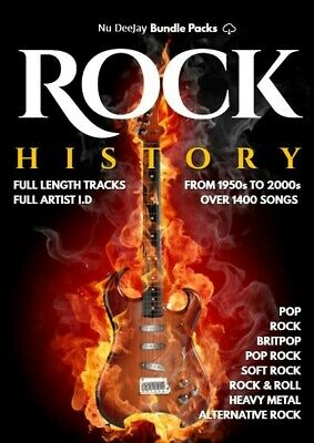 Rock History 1950s - 2000s MP3 Files - Digital Download • 9.99£