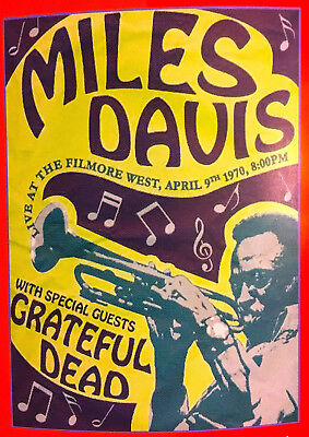 Reproduction  Miles Davis  Poster, Jazz, Home Wall Art, Vintage Print • 13.50£