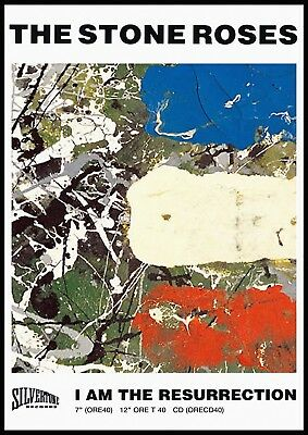 Reproduction The Stone Roses Poster,  Resurrection  Indie, Manchester • 12£