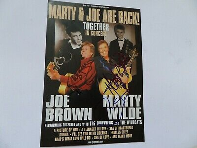 Marty Wilde And Joe Brown, Autographed Tour Flyer. • 19.99£