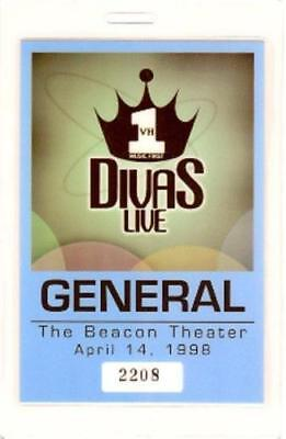 Celine Dion / Mariah Carey 1998 Vh1 Divas Live Laminated General Backstage Pass • 10.37£