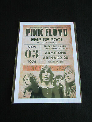 Pink Floyd : Empire Pool London 1974 : A4 Glossy Repo Poster • 3.79£