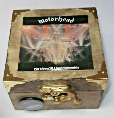 MOTORHEAD.. Wood Storage Box FOR GUITAR ,plectrums, TUNER ETC • 9.99£