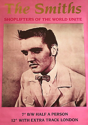 Reproduction, The Smiths,  Shoplifters Of The World Unite  Poster, Morrissey • 12£