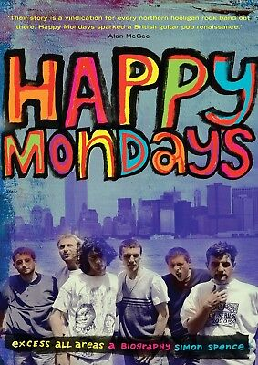 Reproduction Happy Mondays Poster,  Excess All Areas  Indie, Manchester • 12£