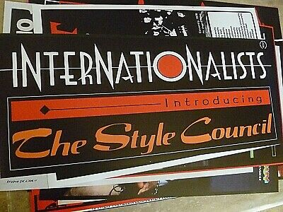 The Style Council Reproduction 'internationalists' Banner Poster, 70x30 Cm • 15£