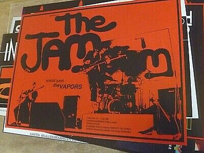 The Jam Reproduction 'leeds Queens Hall '79' Poster, 60 Cm X 45 Cm • 15£