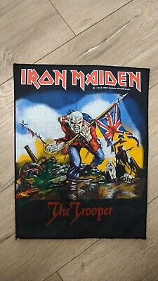 Iron Maiden The Trooper Back Patch 1983 Vintage Official Rare Rock Metal Eddie  • 74£