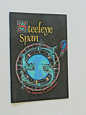 Steeleye Span The Journey Continues 1995  25th Anniversary Tour Programme • 7.95£