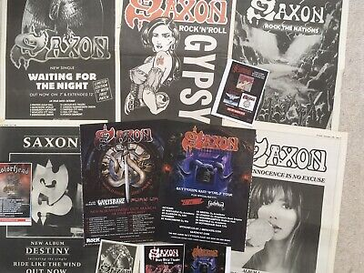 Saxon  -   Music Press Posters -articles-cuttings.  • 12.99£