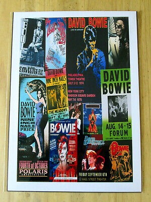 David Bowie : Concert Poster  Collage :  A4 Glossy Repo Poster • 3.99£