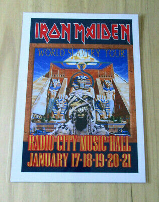 Iron Maiden : World Slavery Tour Radio City : A4 Glossy Reproduction Poster • 3.99£