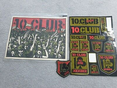 Pearl Jam 2012 10 Club Stickers, Poster & Patch • 20£