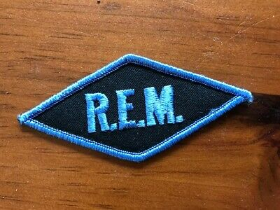 RARE R.E.M. DIAMOND PATCH SENT FROM OFFICES IN ATHENS 1980s INDIE ROCK FAN CLUB • 23.82£